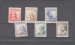 AUSTRIA - 1934  WELFARE ARCHITECTS SET OF 6 FINE USED, SG CAT £192 - Gebraucht