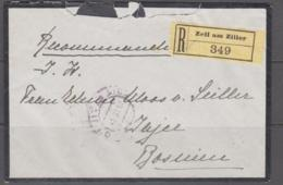 AUSTRIA - 1918 - REGISTERED COVER  FROM ZEIL AM ZILIER TO BOSNIA - 1850-1918 Empire