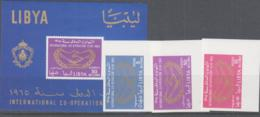 I  C  Y  - LIBYA - 1963 - INT CO OP YEAR SET OF 2 +  S/SHEET IMPERFORATE   MNH - Organizations