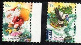 CHRISTMAS ISLAND, 2018, MNH, CHRISTMAS, SANTA CLAUS, BIRDS, FISH,  2v - Christmas