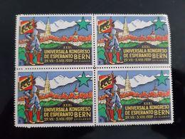 4 TIMBRES OU VIGNETTES ESPERANTO 1939 XXXI UNIVERSALA KONGRESO DE ESPERANTO BERN 29 VII SVISLANDO TIMBRE STAMP STAMPS - Esperanto