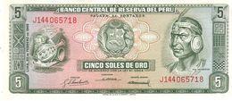 Peru P.92 5 Soles 1968 Unc - Perù