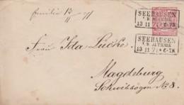 AD Nord Deutscher Postbezirk Umschlag 1869-1871 - Norddeutscher Postbezirk