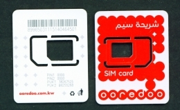 KUWAIT  -  Ooredoo SIM Frame Phonecard - Kuwait