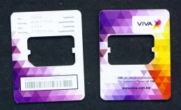 KUWAIT  -  Viva SIM Frame Phonecard - Kuwait