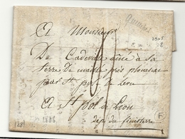 Finistère - Quimper Pour St Pol De Léon. LAC De 1806. Indice 8=45e - Poststempel (Briefe)