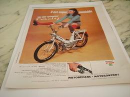 ANCIENNE PUBLICITE IL EST SUPER MANIABLE CADY DE MOTOBECANE 1968 - Motos