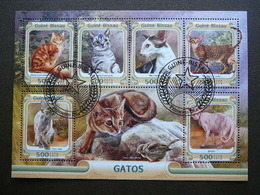 Cats. Katzen. Chats # Guinea-Bissau # 2016 Used S/s # Domestic Cats - Domestic Cats