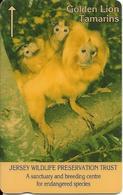 CARTE-MAGNETIQUE-JERSEY-50U-SINGE-GOLDEN LION-TAMARINS-Fondation JERSEY WILDLIFE -TBE - Jungle