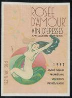 Etiquette De Vin // Epesses, Rosé D'Amour 1992 - Érotique