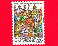 VATICANO - Usato - 1990 - 1300 Anni Dell'attività Missionaria Di S. Willibrord - 700 L. • Il Soggiorno Ad Anversa - Vatican