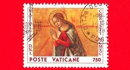 VATICANO - Usato - 1990 - Natale - 750 L. • La Madonna - Vatican