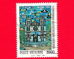 VATICANO - Usato - 1990 - 3º Centenario Della Creazione Della Diocesi Pechino-Nanchino - 2000 L. • Chiesa Pe-Tang - Vatican