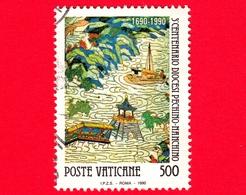 VATICANO - Usato - 1990 - 3º Centenario Della Creazione Della Diocesi Pechino-Nanchino - 500 L. • Pescatori Sul Lago Di - Vatican