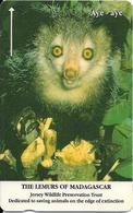 CARTE-MAGNETIQUE-JERSEY-2£-LEMURIEN  AYE-AYE-Fondation JERSEY WILDLIFE -TBE - Jungle