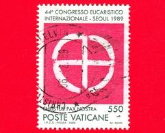 VATICANO - Usato - 1989 -  44º Congresso Eucaristico Internazionale - 550 L. • Emblema Del Congresso Eucaristico - Vatican