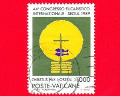 VATICANO - Usato - 1989 - 44º Congresso Eucaristico Internazionale - 1000 L. • Simbolo Dell'Eucarestia - Vedi.. - Vatican