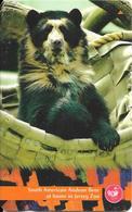 CARTE-MAGNETIQUE-JERSEY-2£-OURS SUD AMERIQUE-des ANDES-Fondation JERSEY WILDLIFE -TBE - Jungle