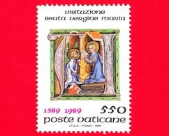 VATICANO - Usato - 1989 - 6º Centenario Dell'istituzione Della Festa Della Visitazione - 550 L. - L'Annunciazione - Vatican