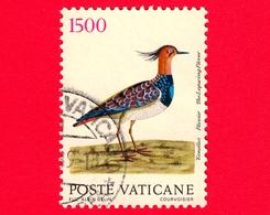 VATICANO - Usato - 1989 - Uccelli - 1500 L. • Pavoncella - Vatican