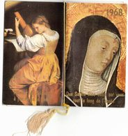 ALMANACH RELIGIEUX CALENDRIER STE RITA ANNEE 1968 IMAGE PIEUSE RELIGIEUSE HOLY CARD SANTINI HEILIG PRENTJE - Calendriers