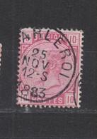 COB 38 Oblitération Centrale CHARLEROI - 1883 Leopoldo II