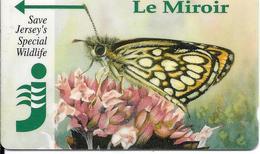 CARTE-MAGNETIQUE-JERSEY-2£-PAPILLON/Le MIROIR-TBE - Papillons