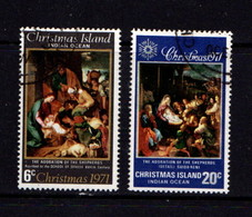 CHRISTMAS  ISLAND   1971    Christmas    Set  Of  2       USED - Christmas Island