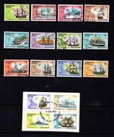 CHRISTMAS  ISLAND   1972    Ships    Set  Of  16       USED - Christmas Island