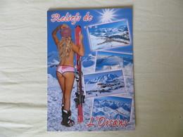 CPM Humour Pin Up Avec Ski Fesses Rebondies - Ski Les Reliefs De L' Oisans - Pin-Ups