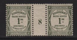 Timbre Taxe - N°43 - Millésime 8 De 1908 - Neuf Sans Charniere Mais 1 Point De Gomme Manquant - Cote 15.00€ - Millesimi