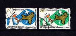 CHRISTMAS  ISLAND   1973    Christmas    Set  Of  2       USED - Christmas Island
