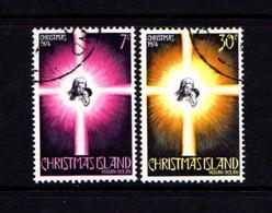 CHRISTMAS  ISLAND   1974    Christmas    Set  Of  2    USED - Christmas Island
