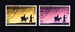 CHRISTMAS  ISLAND   1975    Christmas    Set  Of  2    USED - Christmas Island