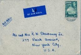 1938   BERMUDA , SOMERSET - NUEVA YORK , SOBRE CIRCULADO , CORREO AÉREO , YV. 113 - Bermudas