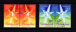 CHRISTMAS  ISLAND   1976    Christmas    Set  Of  2  Pairs    USED - Christmas Island