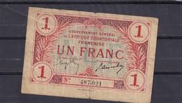 Afrique Equatoriale Francaise 1 Fr   Rare  Tb Fine - Bankbiljetten