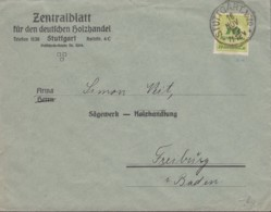 INFLA DR 328 A P EF, Geprüft: Peschl, Auf Brief Des Zentralblatts Dt. Holzhandel, Gestempelt: Stuttgart 16.NOV 1923 - Allemagne