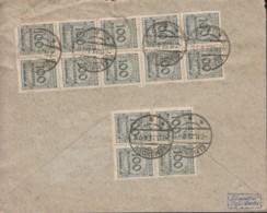 INFLA DR 16x 322 A MeF, Geprüft: Peschl, Auf Brief Der Kreditbank, Gestempelt: Elmshorn 7.11.1923 - Infla
