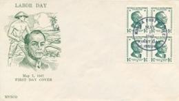 Philippines 1947 FDC Manuel Quezon - Filippine