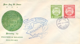Philippines 1959 FDC Province Of Bulacan - Covers