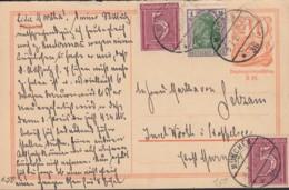 INFLA  DR P 144 A, ZFr. 2x 158, 150, Postreiter, Stempel: München 5.7.1922 - Allemagne