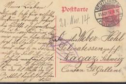 DR P 91, Gestempelt: Reutlingen 21.NOV 1914 - Allemagne