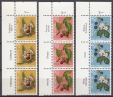 SCHWEIZ 1013-1015, Mit Tiernamen, Dreierstreifen, Postfrisch **, Früchte Des Waldes 1973 - Pro Juventute
