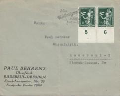 DR 2x 622 MeF, Auf Brief Der Fa. Paul Behrens, Gest: ?, Weltkongress Freizeit Und Erholung, Werbestempel In Sütterlin - Duitsland