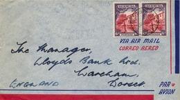 1938   BERMUDA , SOBRE CIRCULADO , FLATTS - DORSET , YV. 98 X 2 , CORREO AÉREO - Bermudas