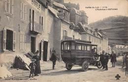 CPA Vallée Du Lot - 1174 - L'Autobus à ESTAING - Francia