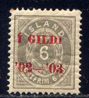ISLANDE - 26A* - CHIFFRE - Neufs