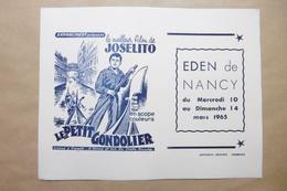 """Buvard - Cinéma EDEN à NANCY 54 MEURTHE-ET-MOSELLE - à L'affiche Le Film """"JOSELITO / LE PETIT GONDELIER"""" - Cinéma & Théatre"""