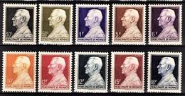 MONACO 1948 - SERIE Y.T.  N° 302 A 306 -  NEUFS** /8 - Neufs